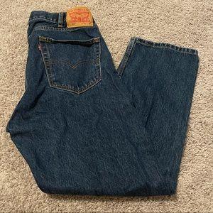 Levi's 505 straight leg jeans blue size 38X 29